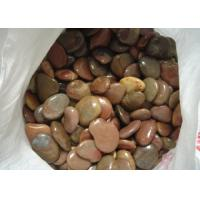 Quality Beautiful Decorative Landscaping Stone Red Polished Coloured Pebbles For Garden for sale