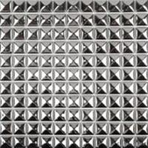 Quality Decorative Silver Metallic Floor Tiles , Solid Mirror Metallic Mosaic Bathroom Tiles for sale