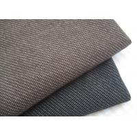 Quality Stylish Brown / Black Knit Denim Fabric For Sportswear / Suit Width 180cm for sale