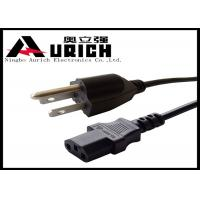 Quality UL Certification NEMA 5-15p Us Power Cable For TV / Electric Range / Percolator for sale