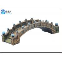 Quality Old Medium Bridge Type Aquarium Resin Ornaments Durable For Hotel Decorations for sale