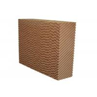 Quality Brown Color Greenhouse Cooling Pad System With Aluminum Alloy Frame for sale