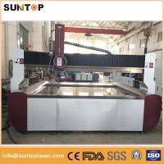 Quality Aluminium alloy cnc water Jet cutting machine 0-15meter/min 3.7L/min for sale