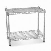 Quality Multifunctional Wire Shelving with Ø25 x 1.2mm Tube and Chrome Finish for sale