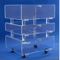Quality China Manufacture Plexiglass Hotel Trolley Cart for sale