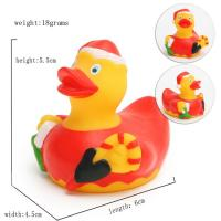 Quality Promotional Gift Mini Christmas Rubber Duck With Santa Hat / Custom Logo 6P Free for sale