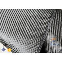Quality 3K 200g 0.3mm Twill Weave Carbon Fiber Fabric For Reinforcement , Thermal Insulator Materials for sale