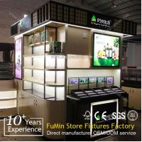 Buy white wood cosmetic display case at wholesale prices