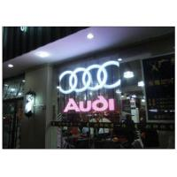 Quality P10 / 12 Clear Transparent Glass Advertising LED Display for Shopping Mall Facade for sale