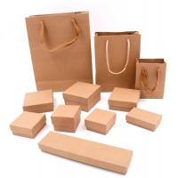 Quality Square Jewelry Packaging Boxes / Handmade Kraft Gift Boxes With Sponge for sale