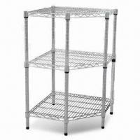 Quality Wire Shelving with Powder Coating Finish, Measures 24 x 24 x 36-inch for sale