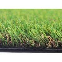Quality 4 Tone UV Resistant Landscaping Fake Grass For Crafts 25mm U Shape 12000 Density for sale