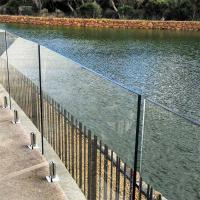 Buy Clear Glass Panel steel polish spigots design fencing railing system at wholesale prices