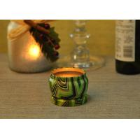 Quality Eco Friendly Tin Candle Holders Anti Thermal Candle Wax Shock Resistant for sale