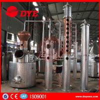 Buy 500L Copper Commercial Distilling Equipment for whiskey voska brandy at wholesale prices