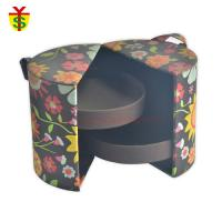 Quality Folding Fabric And Sponge Soft Touch Paperboard Cylinder Creative Gift Boxes With Handle for sale