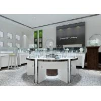 Quality Modern White Color Round Circle Jewellery Display Counter / Retail Display Cases for sale
