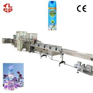 Quality Air Freshener Aerosol Filling Machine , Aerosol Can Filling Equipment High Speed for sale
