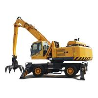 China 15Km/H Hydraulic Material Handler Hydrauolic Wheeled Grabber Excavator With Elevation Cab on sale