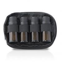 Quality Nylon Essential Oil Storage Case 2 Bag Set With 4 Bottle Keychain Case for sale