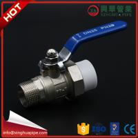 Quality 1 Inch Plumbing Material Male Ball Valve Wear Resistant Circle Head Code With Union for sale