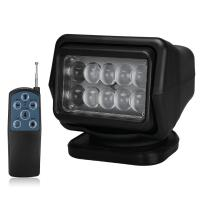 Quality 4000 Lumens Waterproof LED Search Light Rotating Remote Control 12v / 24v for sale
