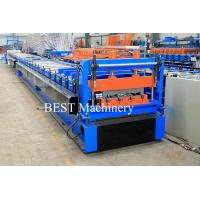Quality Color Steel High Srength Metal Deck Floor Roll Forming Machine For Closed Floor Decking for sale