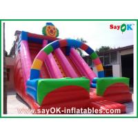 Quality Clown Theme Inflatable Bouncer Slide Multi-color For Amusement Park for sale