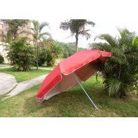 Quality Red Outdoor Advertising Umbrellas With 420D Polyester Fabric , Water Tank Base for sale