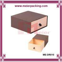 Quality Custom slide drawer paper box/Brown Paper Drawer Box Jewelry Gift Box ME-DR010 for sale