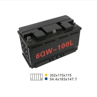 Quality 88AH 680A 6 Qw 100L Start And Stop Car Battery 350*175*190mm For Agricultural Machine for sale