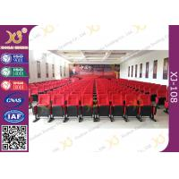 Quality Movable Folded Church Furniture Chairs Electrostatic Spraying Feet Floor Mounted for sale