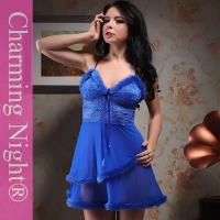 Quality Fashionable Nylon Good Stretch Sexy Lingerie Babydoll Dress With Double Fur Skirt for sale
