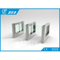 Quality Rfid Access Control Entrance Barrier Systems , Stainless Steel Waist High Turnstile for sale
