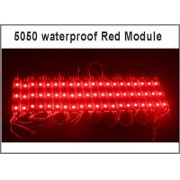 Quality 5050 SMD 3 LED module red modules 12V advertising lighting Waterproof IP67 75*12*05  0.8w/pcs for sale