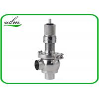 Quality Butt Weld Sanitary Pressure Relief Valve with Spring Return Configuration , Slight Opening for sale