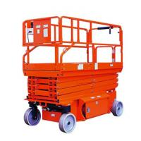 China High Efficiency 450kg Half - Electric Movable Mechanical Scissor Lift Table For Cargo on sale