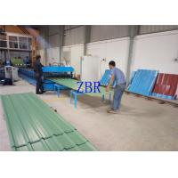 Quality Aluminum Galvanized Roof Sheet Roll Forming Machine 1219mm Feeding Width With Pre - Cutting for sale
