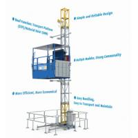 Buy Construction Material / People Carrier Rack And Pinion Hoists CH750 Single Cage at wholesale prices