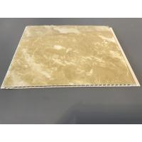 Buy Durable Decorative PVC Garage Wall Panels Yellow Marble Color 25cm Width at wholesale prices