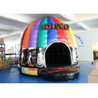 Quality 4mH 5m Dia Musical Inflatable Air Bouncer / Inflatable Dome Disco Jumping Area for sale