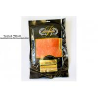 SGS High Barrier Printed Nylon / LLDPE Smoked Salmon Vacuum Packaging Bags