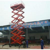 6 - 18m diesel mobile scissor lift platform for 500kg 800kg 1000kg Load capacity