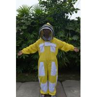 Quality Yellow Color New type Ventilated Bee Suit of Beekeeping Protective Clothing for sale