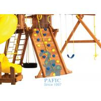 Buy Anti-UV Kids Outdoor Playsets , Plastic Holds for Climbing Wall with Metal Fastener Accessories at wholesale prices