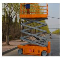 Quality Steel Mini Scissor Lift Extendable Orange Hydraulic Scissor Lift Table for sale