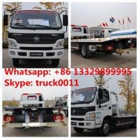 Quality BEST PRICE FOTON AUMARK road recovery truck tow truck for sale, factory direct sale FOTON 4*2 LHD Flatbed towing truck for sale