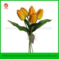 """Quality 14"""" PU Real Touch Artificial Tulip Bouquet X 5 for sale"""