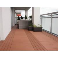 China Environmental - Friently Plastic Timber Decking , Plastic Composite Decking Boards For Corridor on sale