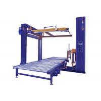 Quality PLC Control Robot Pallet Wrapping Machine Pallet Wrapper With Top Sheet Dispenser for sale